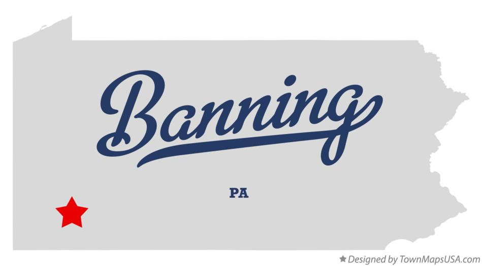 Map of Banning Pennsylvania PA