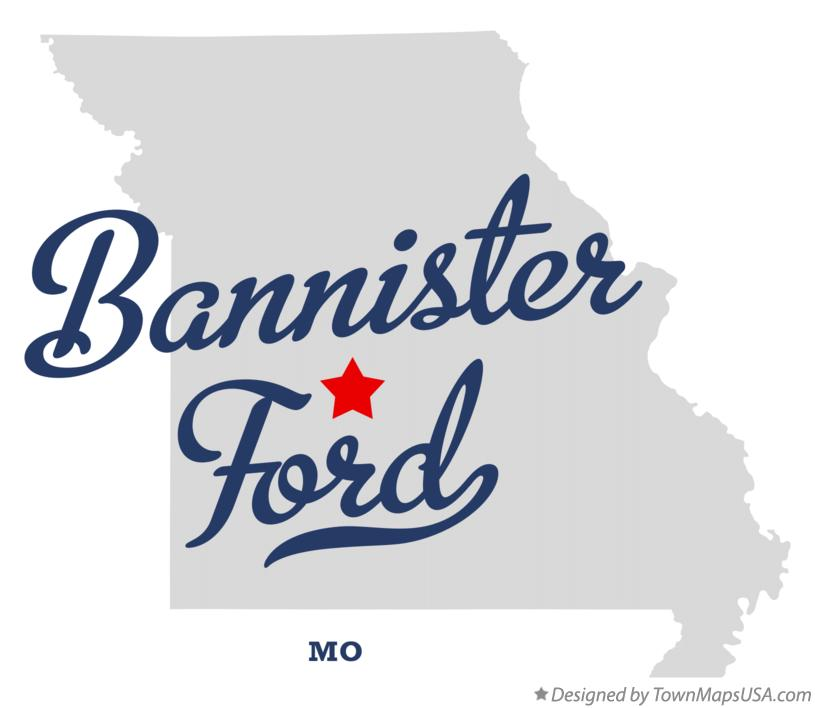 Map of Bannister Ford Missouri MO