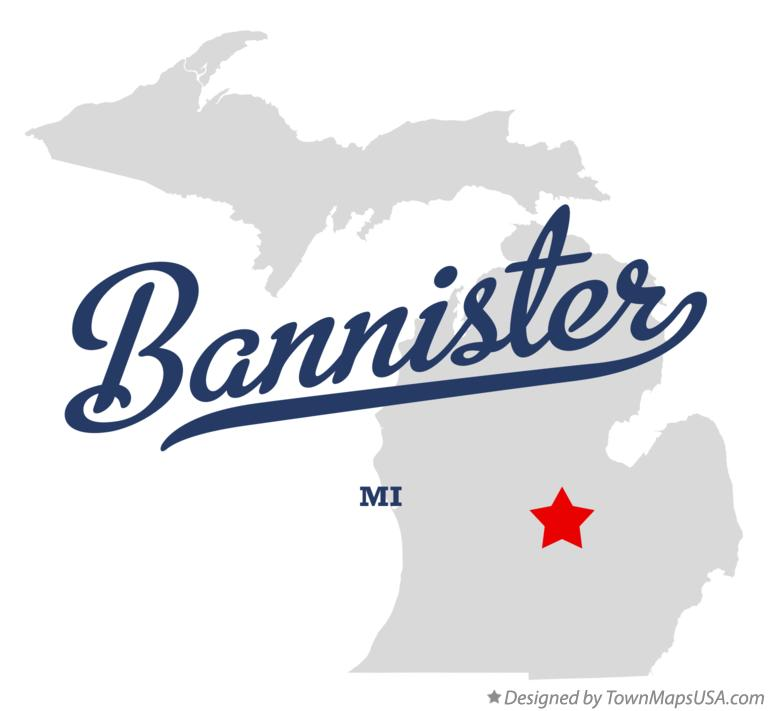 Map of Bannister Michigan MI