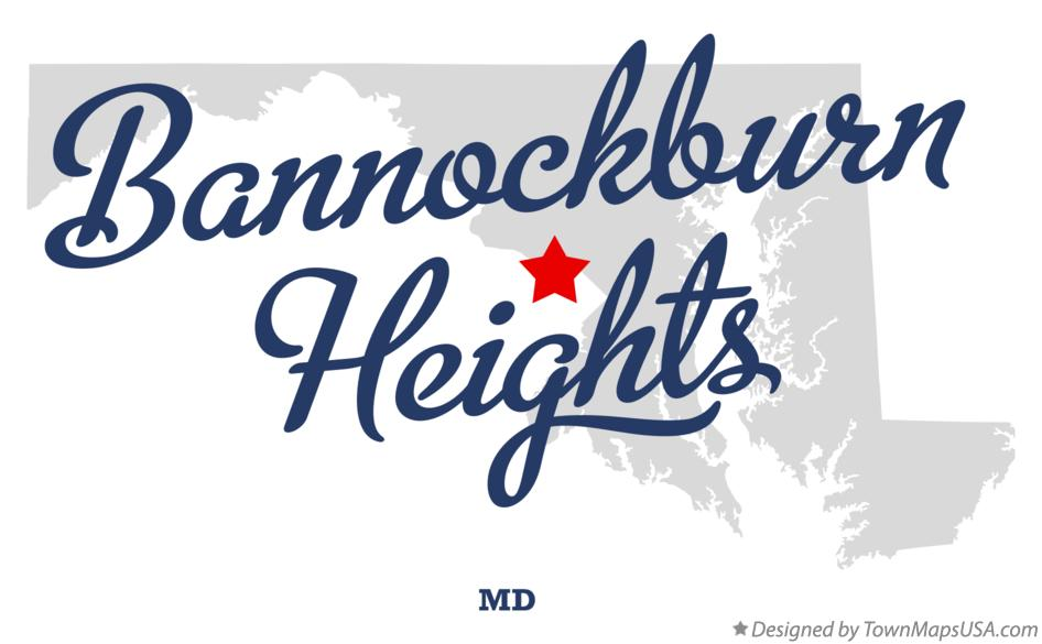 Map of Bannockburn Heights Maryland MD