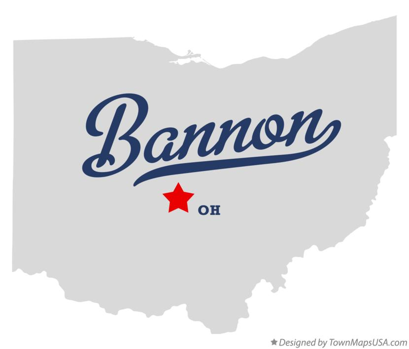 Map of Bannon Ohio OH