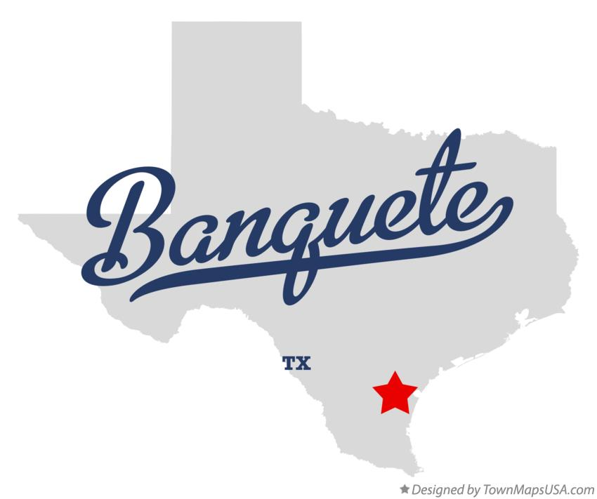 Map of Banquete Texas TX