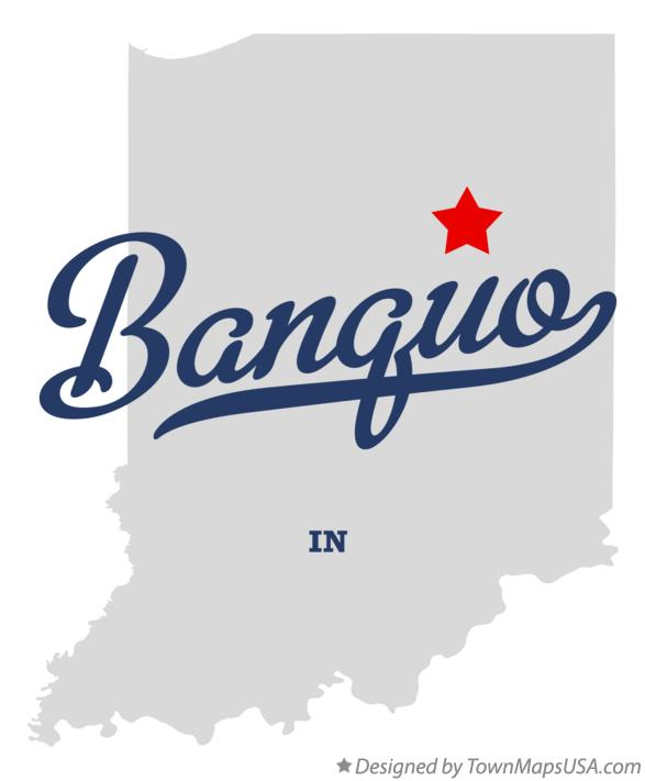 Map of Banquo Indiana IN