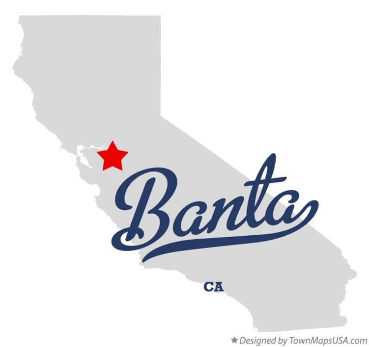 Map of Banta California CA