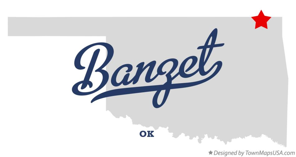 Map of Banzet Oklahoma OK