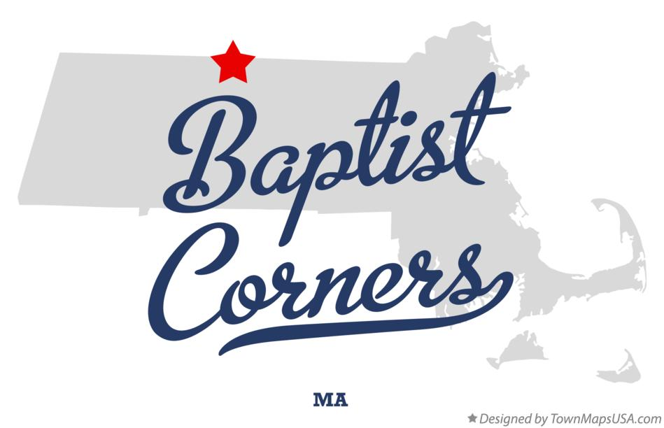 Map of Baptist Corners Massachusetts MA