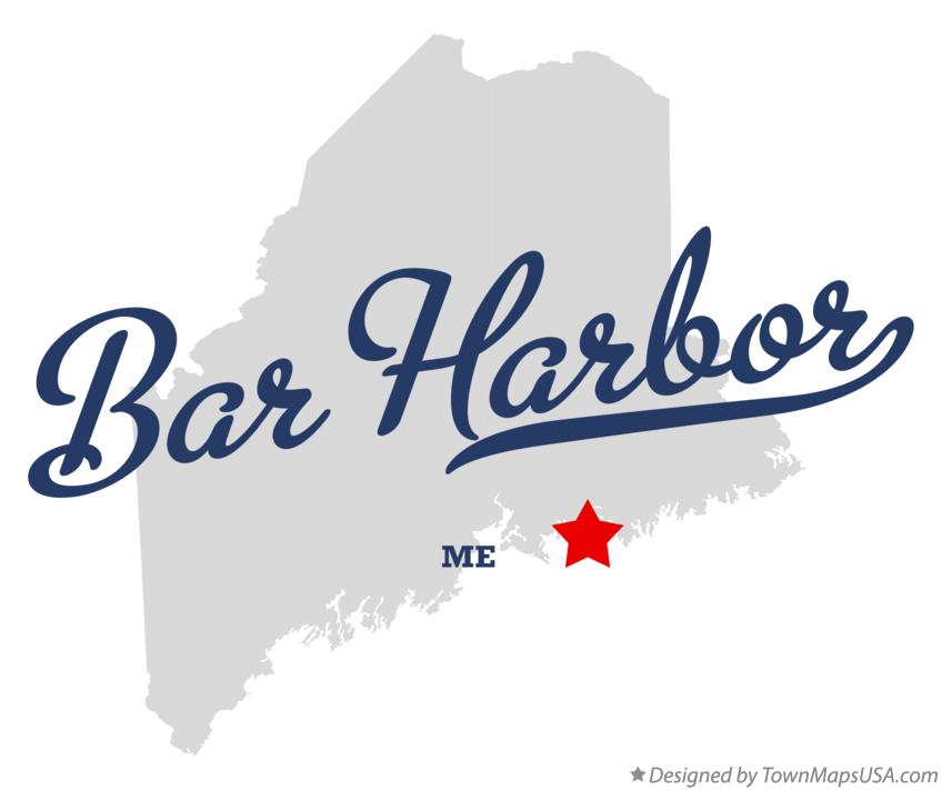 Map of Bar Harbor Maine ME