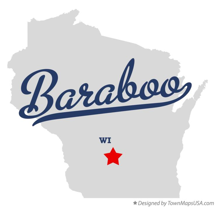Map of Baraboo Wisconsin WI