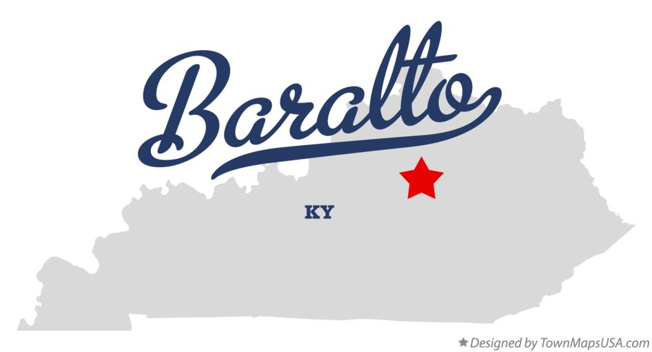 Map of Baralto Kentucky KY