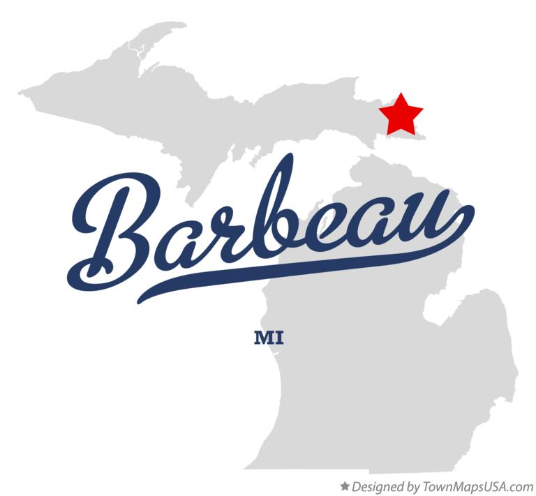 Map of Barbeau Michigan MI