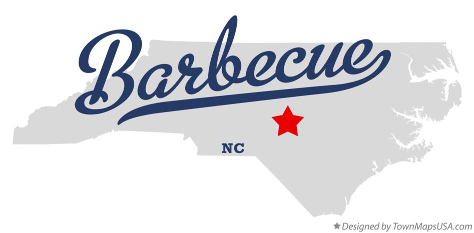 Map of Barbecue North Carolina NC