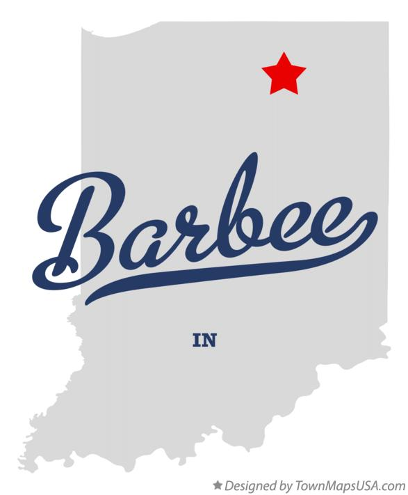 Map of Barbee Indiana IN