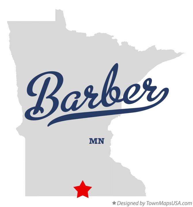 Map of Barber Minnesota MN