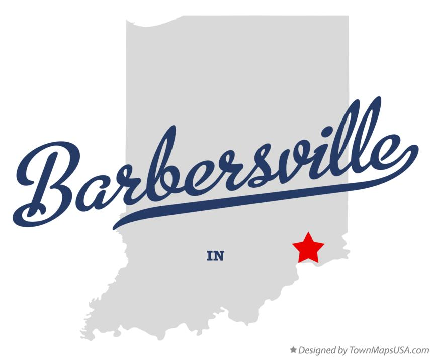 Map of Barbersville Indiana IN