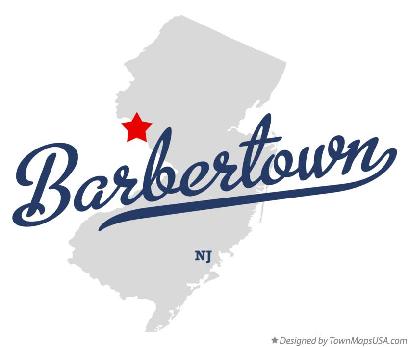 Map of Barbertown New Jersey NJ
