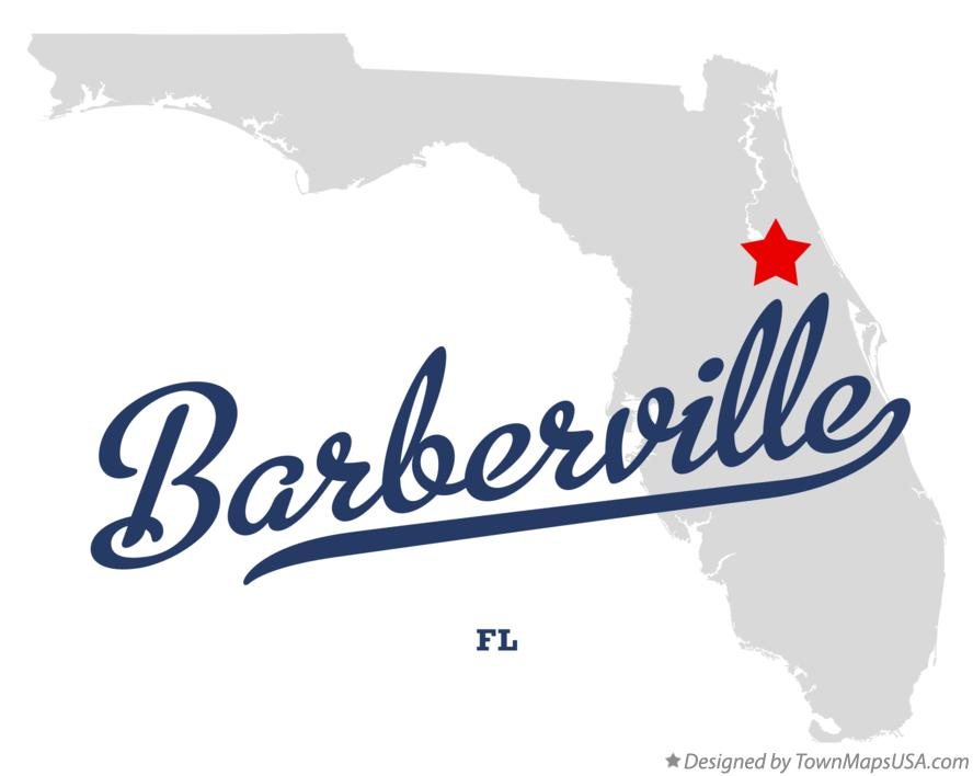 Map of Barberville Florida FL