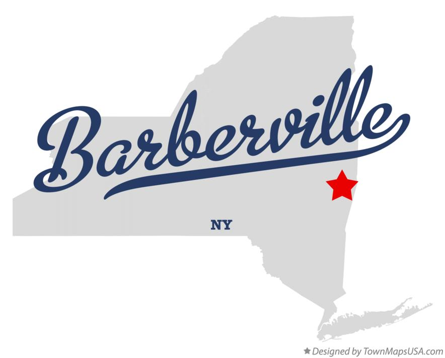 Map of Barberville New York NY