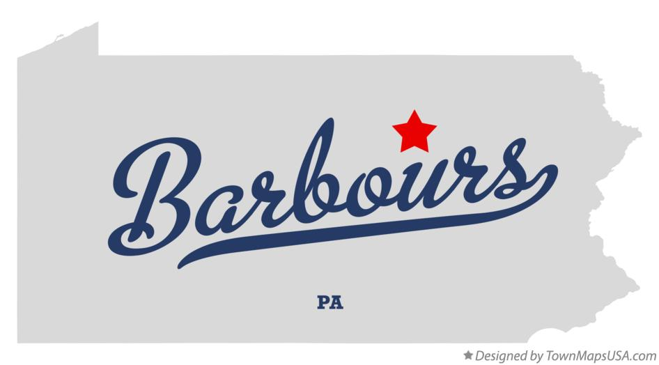Map of Barbours Pennsylvania PA