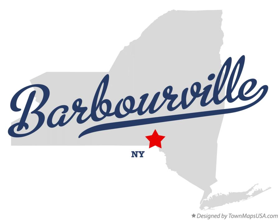 Map of Barbourville New York NY