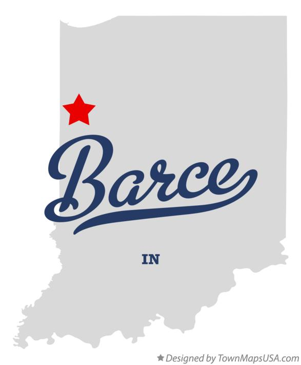 Map of Barce Indiana IN