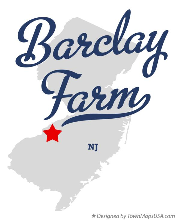 Map of Barclay Farm New Jersey NJ