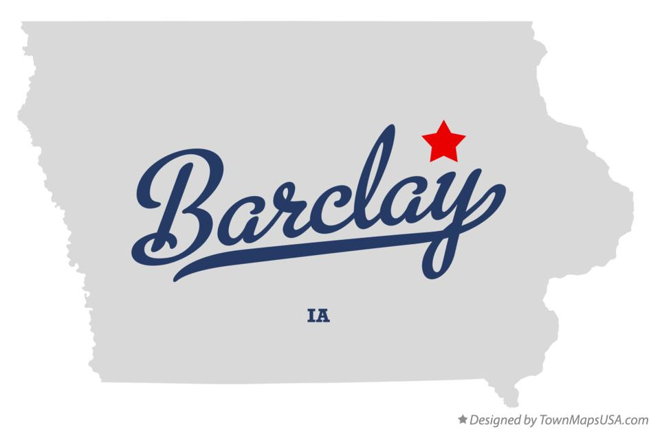 Map of Barclay Iowa IA