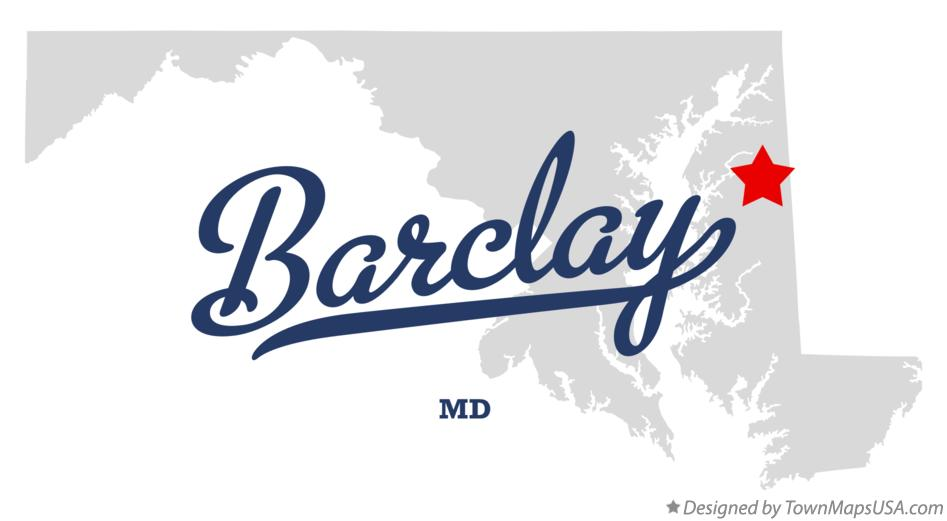 Map of Barclay Maryland MD