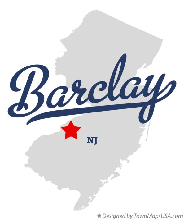 Map of Barclay New Jersey NJ