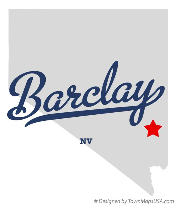 Map of Barclay Nevada NV