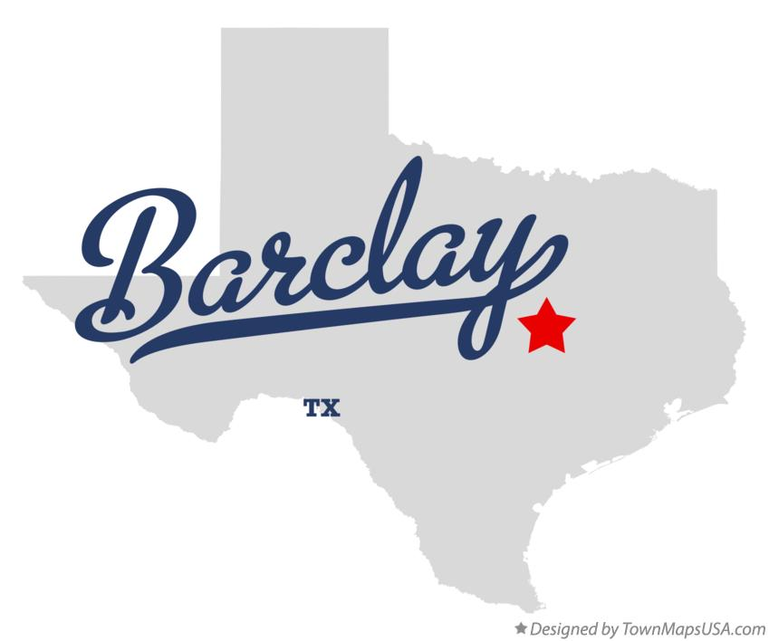 Map of Barclay Texas TX