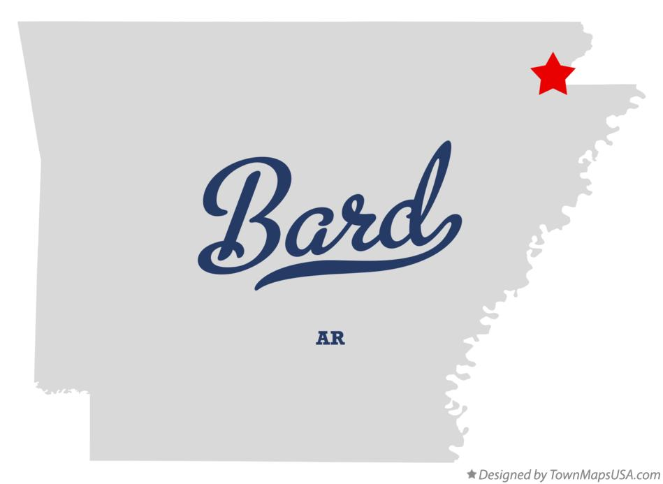 Map of Bard Arkansas AR