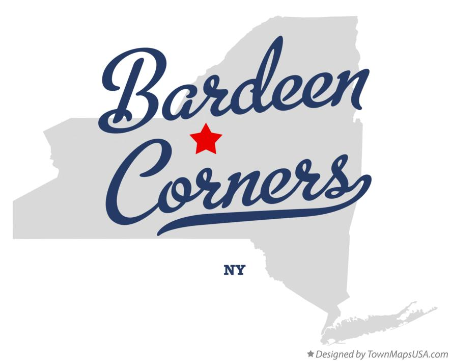 Map of Bardeen Corners New York NY