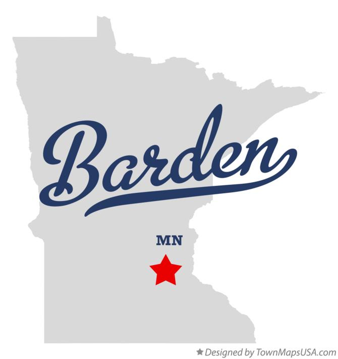 Map of Barden Minnesota MN