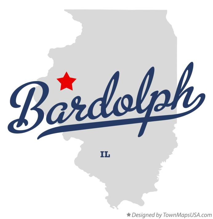 Map of Bardolph Illinois IL