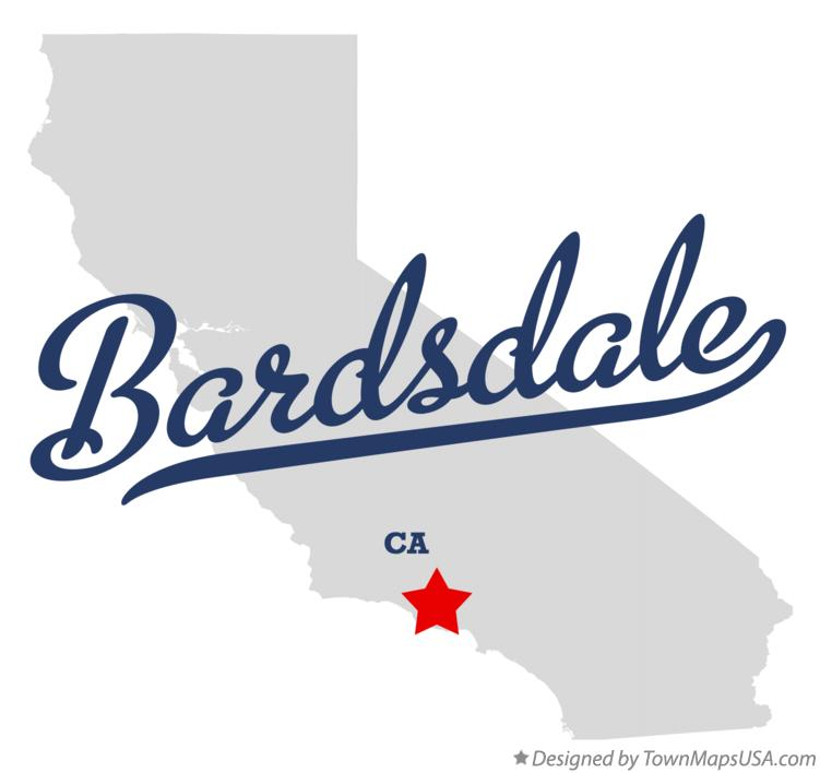 Map of Bardsdale California CA