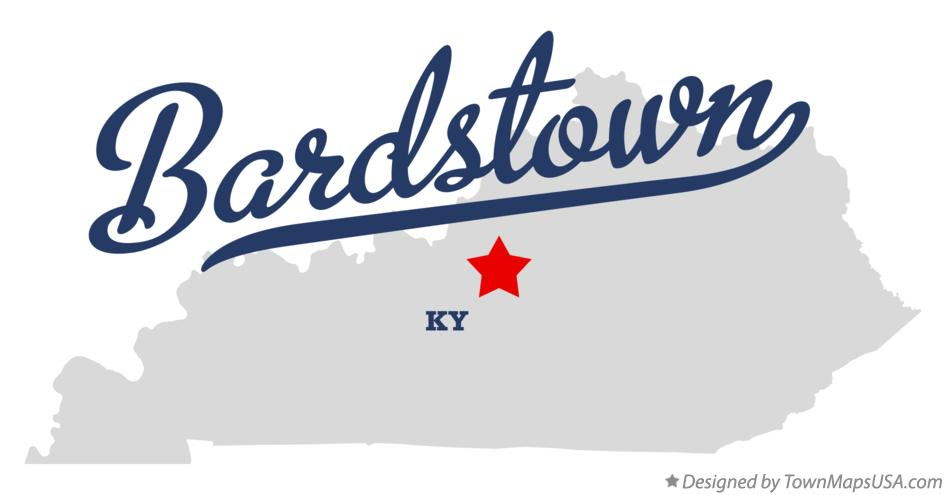 map of bardstown ky kentucky. Black Bedroom Furniture Sets. Home Design Ideas