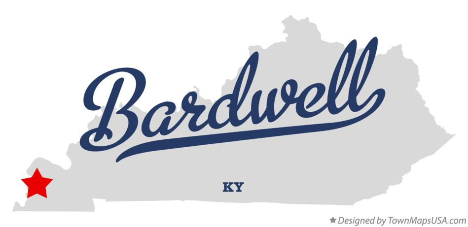 Map of Bardwell Kentucky KY