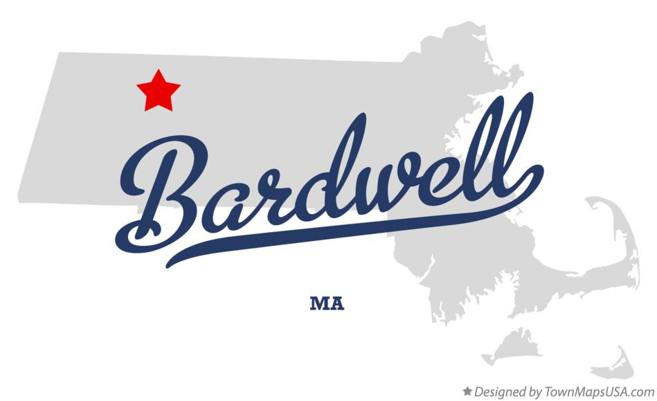Map of Bardwell Massachusetts MA