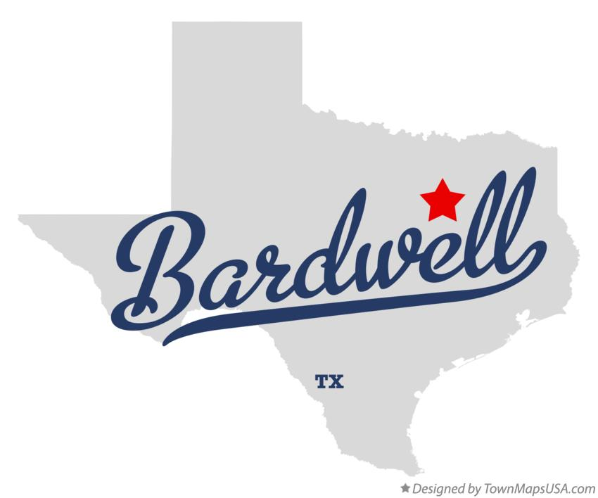 Map of Bardwell Texas TX