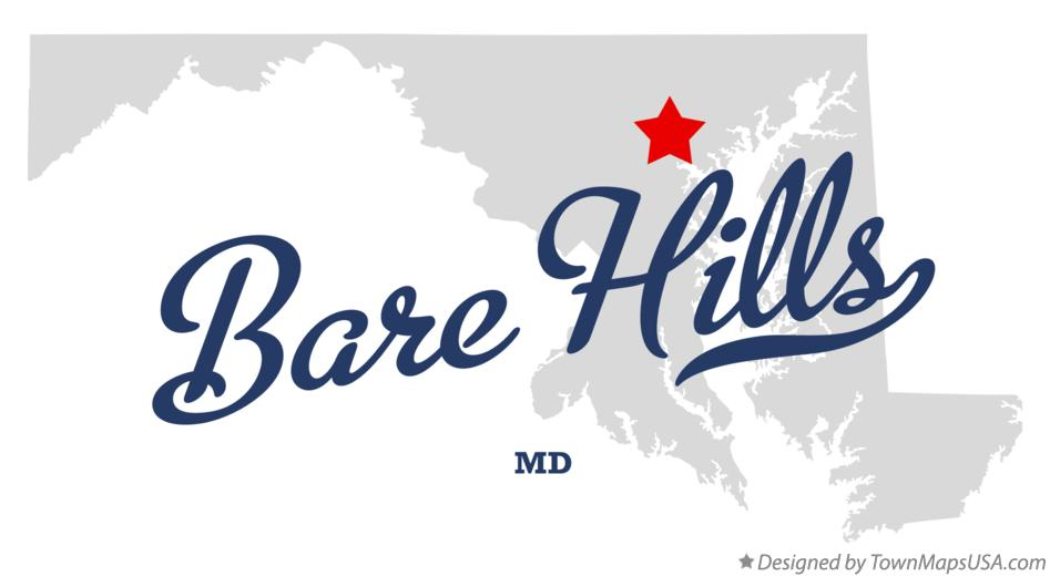 Map of Bare Hills Maryland MD