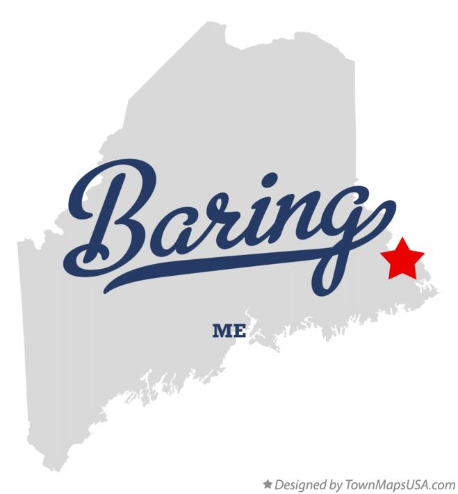 Map of Baring Maine ME