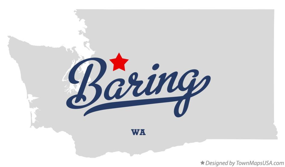 Map of Baring Washington WA