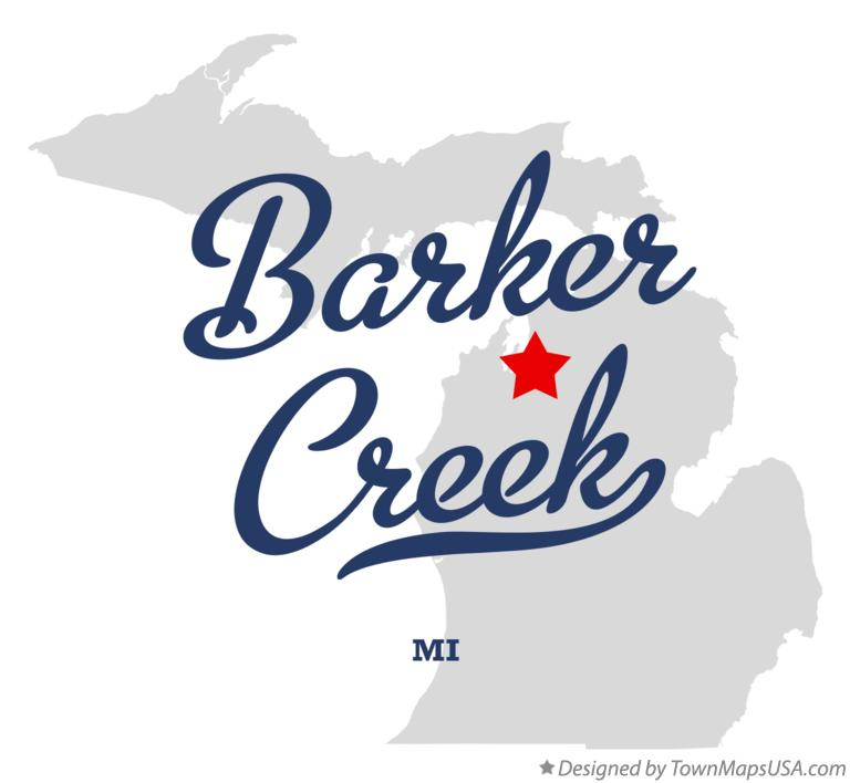 Map of Barker Creek Michigan MI