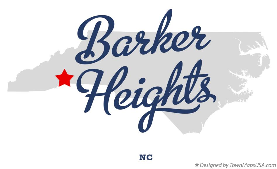 Map of Barker Heights North Carolina NC