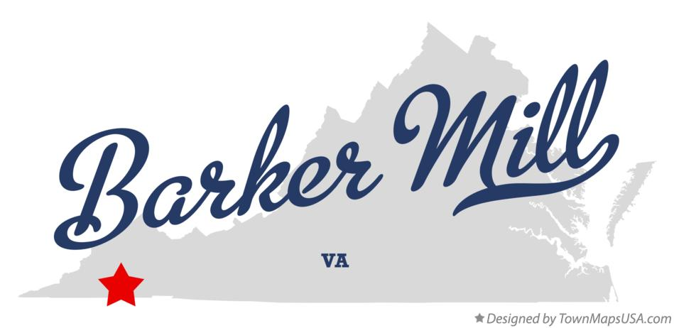 Map of Barker Mill Virginia VA