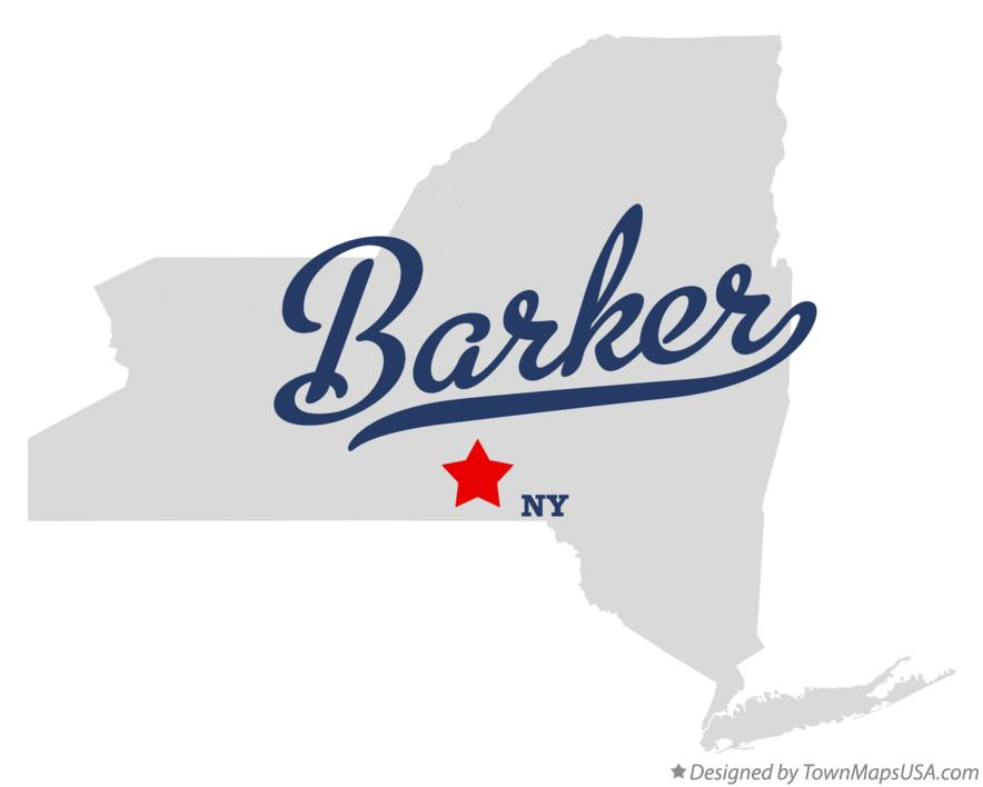 Map of Barker New York NY