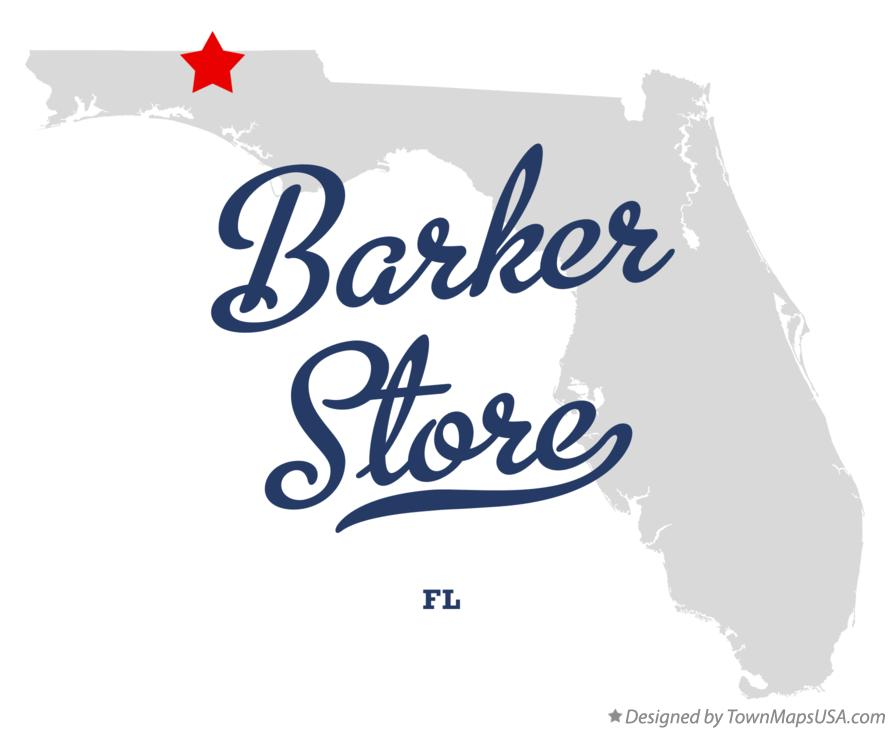 Map of Barker Store Florida FL