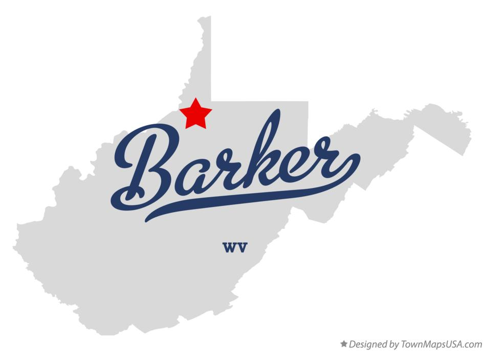 Map of Barker West Virginia WV