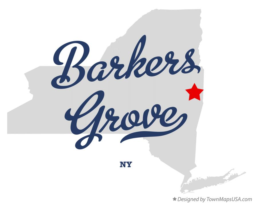Map of Barkers Grove New York NY