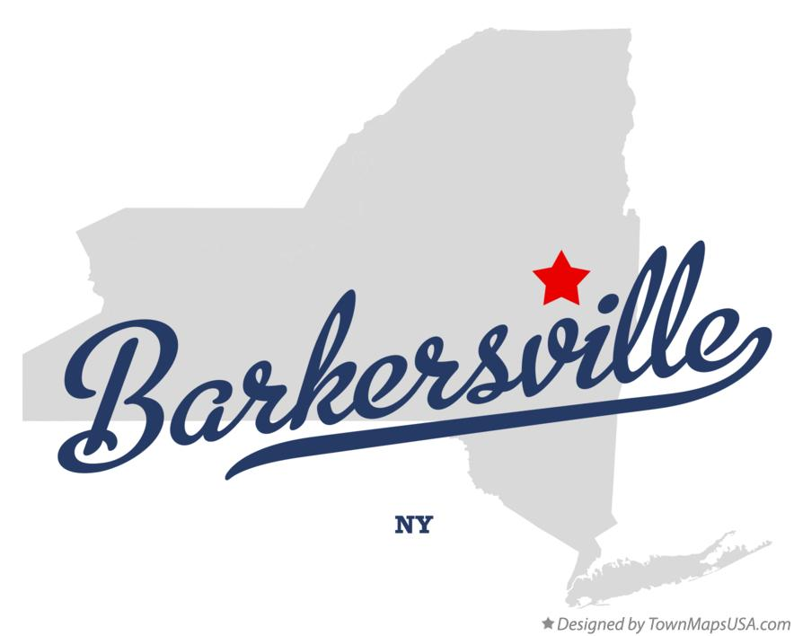 Map of Barkersville New York NY